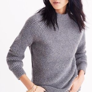 Madewell Grey Mock Turtleneck Hi-Lo Sweater Sz. XS